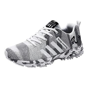 c79dd4a6 LuckyGirls Hombre Zapatillas de Correr Camuflaje Malla Casual Calzado de  Deporte Transpirables Zapatos Deportivos con Cordones Moda Bambas de  Running: ...