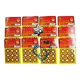 8 Shot Plastic Disc Ring Caps 14 Piece Bundle Features 864 Unit Shots for Toy Cap Gun Pistols, Clip On Silver Tone Deputy Sheriff Badge and Metal Whistle Imprints Plus _ C12
