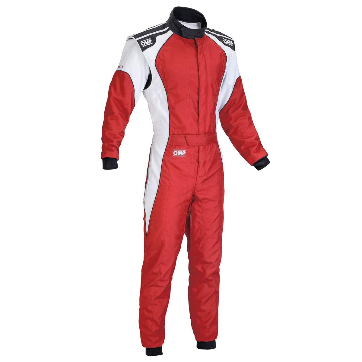 OMP KS-3 Kart Suit KK01723 (Size: 48, Black/White)
