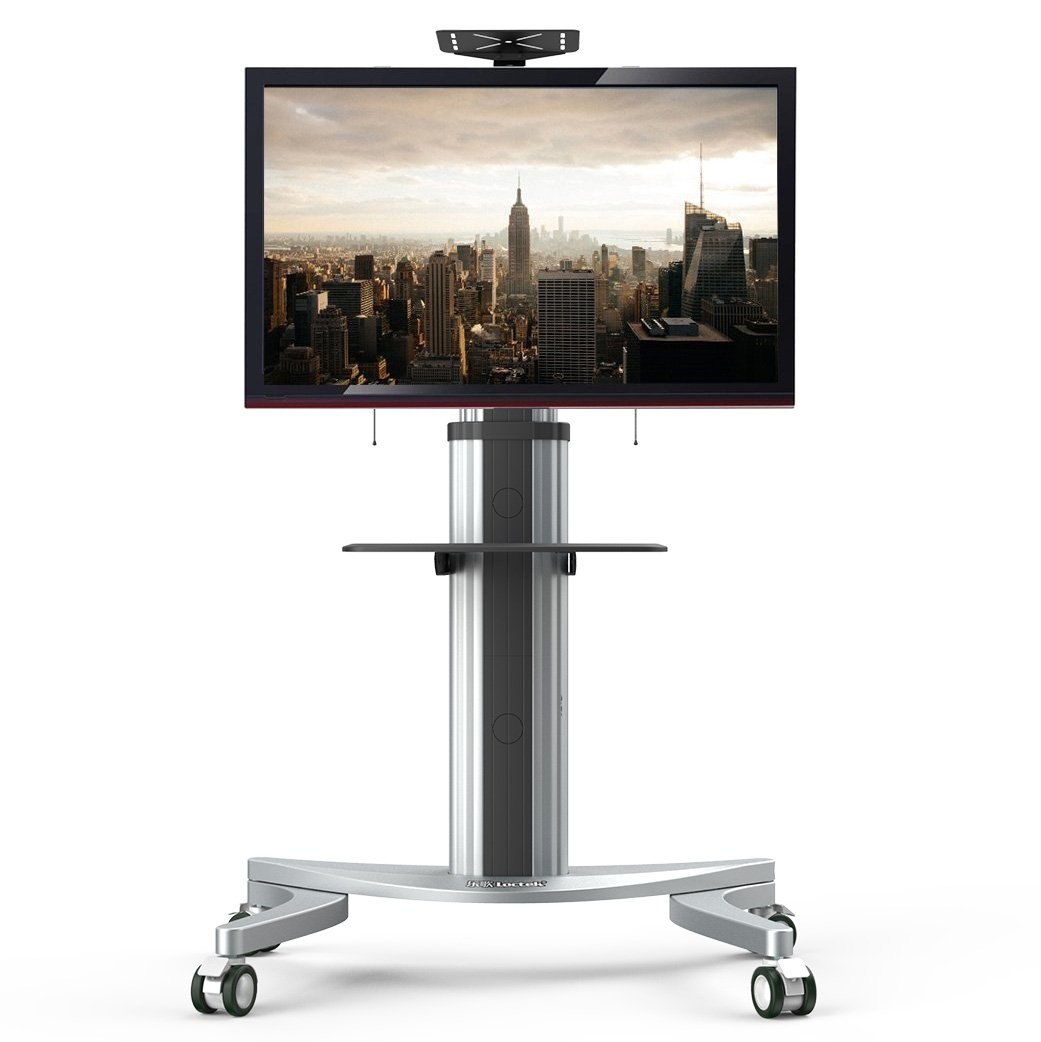 Loctek P2 Mobile TV Floor Cart for LCD LED Plasma Flat Panels Stand with Wheels Mobile fits 32''-70''