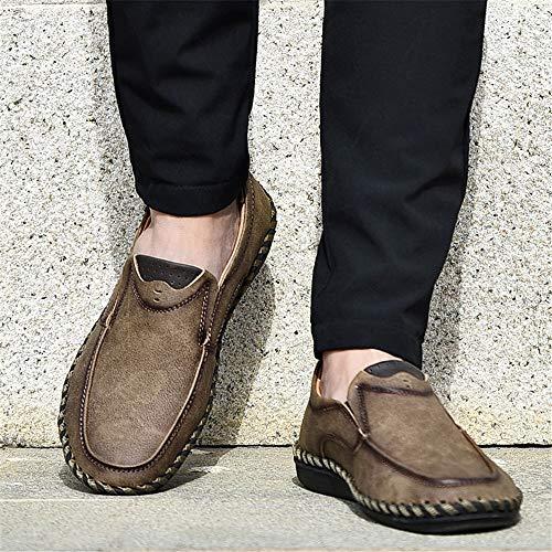 tip mano Marrone Fuxitoggo 40 da U fatte Slip casual business EU Fashion a mocassini Marrone Dimensione su Scarpe uomo Colore 4IwAqIO