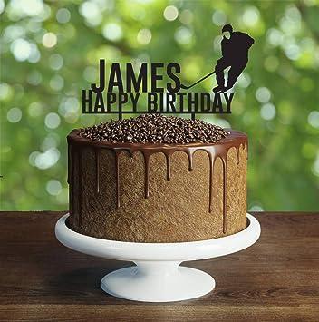 Pleasant Amazon Com Unique Cake Toppers Hockey Birthday Cake Topper Funny Birthday Cards Online Benoljebrpdamsfinfo
