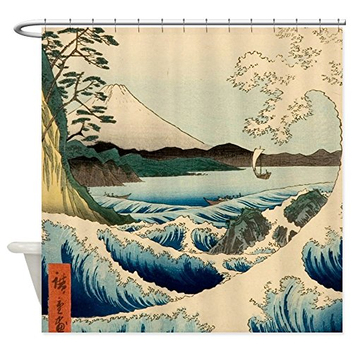 CafePress Japanese Vintage Decorative Curtain
