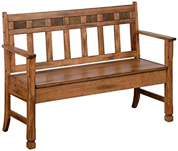 Amazon Com Sunny Designs 1594ro Sedona Deacon S Bench With Storage