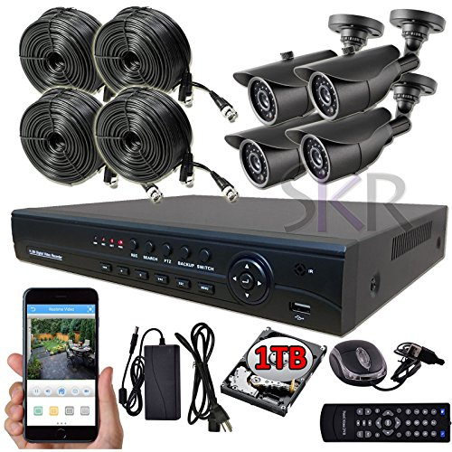 Video Security System Outdoor Camera 1TB Sikker 8CH CHANNEL HD