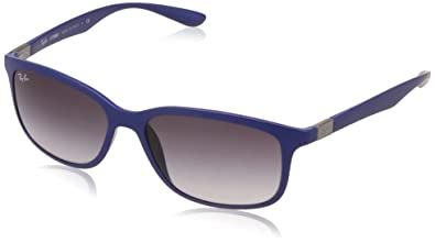 Amazon.com: Ray-Ban RB4215 Sunglasses Matte Dark Blue / Grey ...