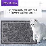 GOGOKING Cat Mat PVC Litter Mat Dog Feeding Mat Pet Foot Pad Waterproof Pet Food Mat Cushion For Pet (grey 2)