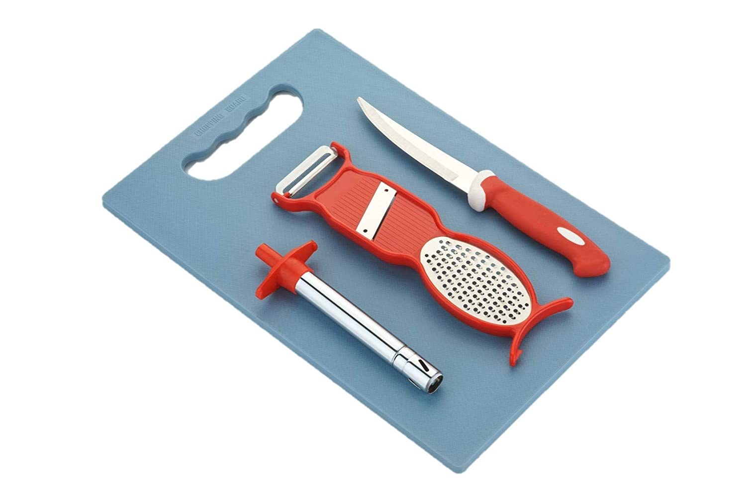 RIOMAX Combo of Chopping Board, Knife, Peeler & Gas Lighter Kitchen Tools Combo/Kitchen Tools Set
