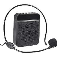 Amplificador de voz portátil con micrófono para auriculares, altavoz de micrófono personal recargable - Altavoz…