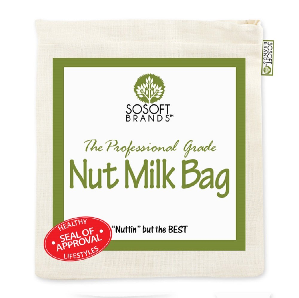 Sosoft marcas Nut Milk Bag - grande 12 en x12In profesional ...