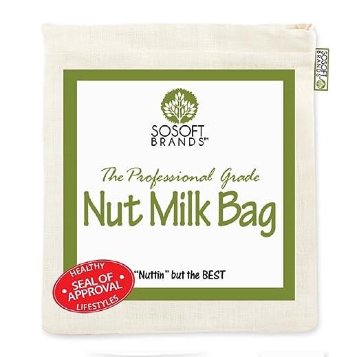Sosoft marcas Nut Milk Bag - grande 12 en x12In profesional grado ...