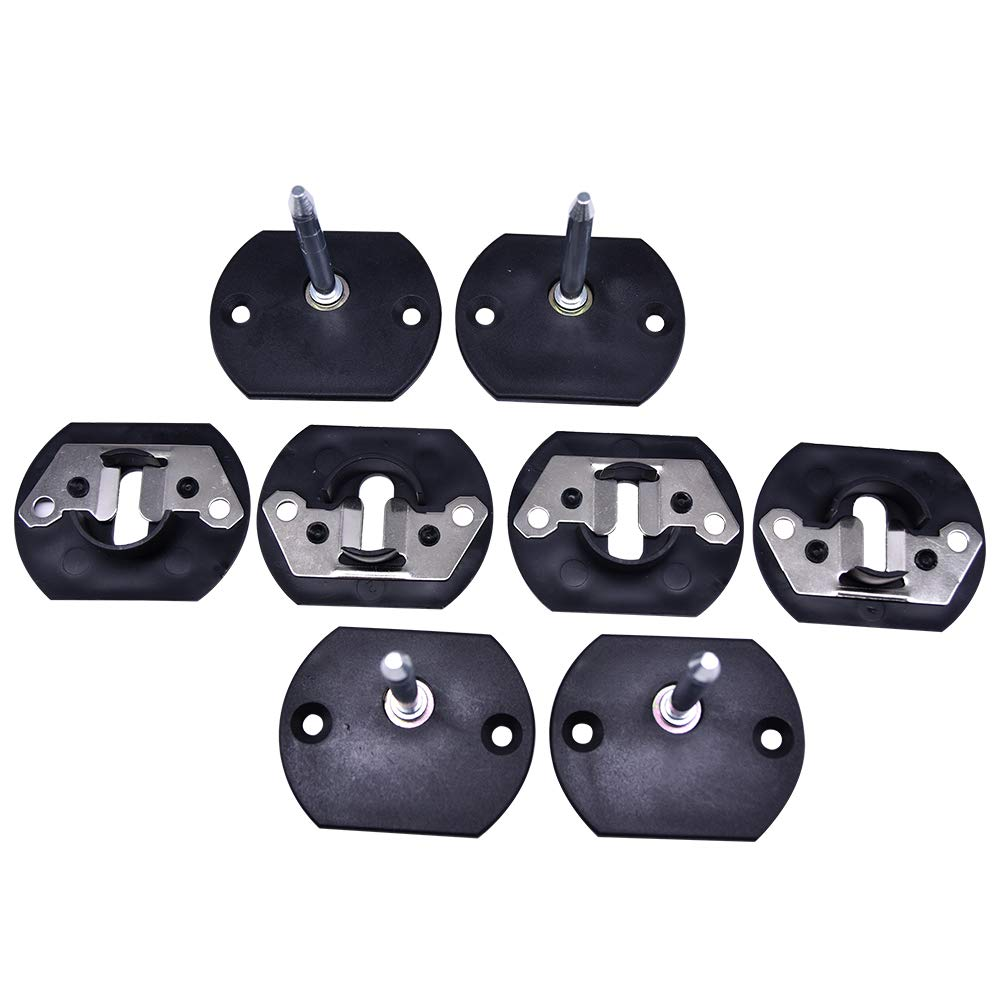 Yoogu 4Sets Furniture Connector, Black Pin Style Sofa Couch Sectional Connector