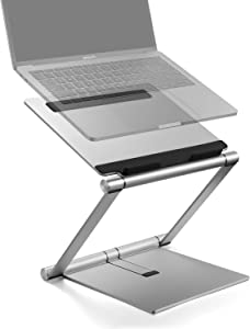 Laptop Stand, Multi-Angle Aluminum Ergonomic Foldable Laptop Riser, Adjustable Notebook Stand Holder for MacBook Pro/Air, HP, Dell, Lenovo, Samsung, Acer, Huawei MateBook, Other Laptops up to 15.6in