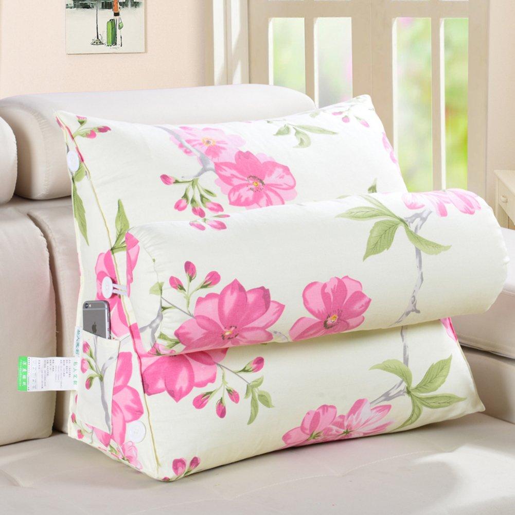 DW&HX bedside Triangular wedge,Reading pillow,Back cushion Floating window Back cushion Sofa Pillow [office] Belt pillow-E 45x25x50cm(18x10x20inch)