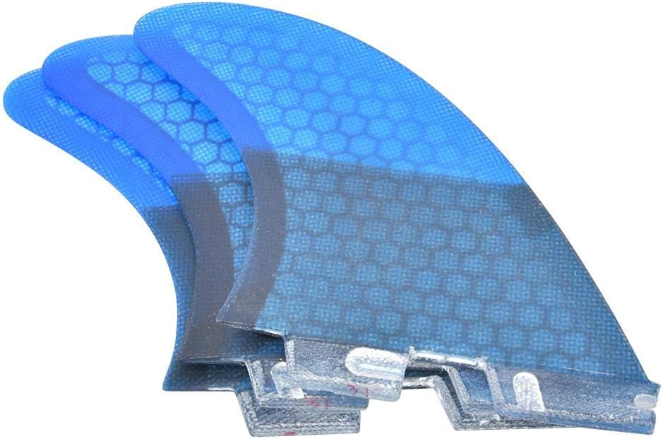 VGEBY Surfboard Fin Fiberglass FCS2 Stylish Convenient Blue Surfboard Tail Fin Flexible Stable Surfing Accessory