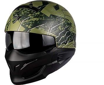 Scorpion - Cascos Moto Exo Combat ratnik Verde Mate: Amazon.es: Coche y moto