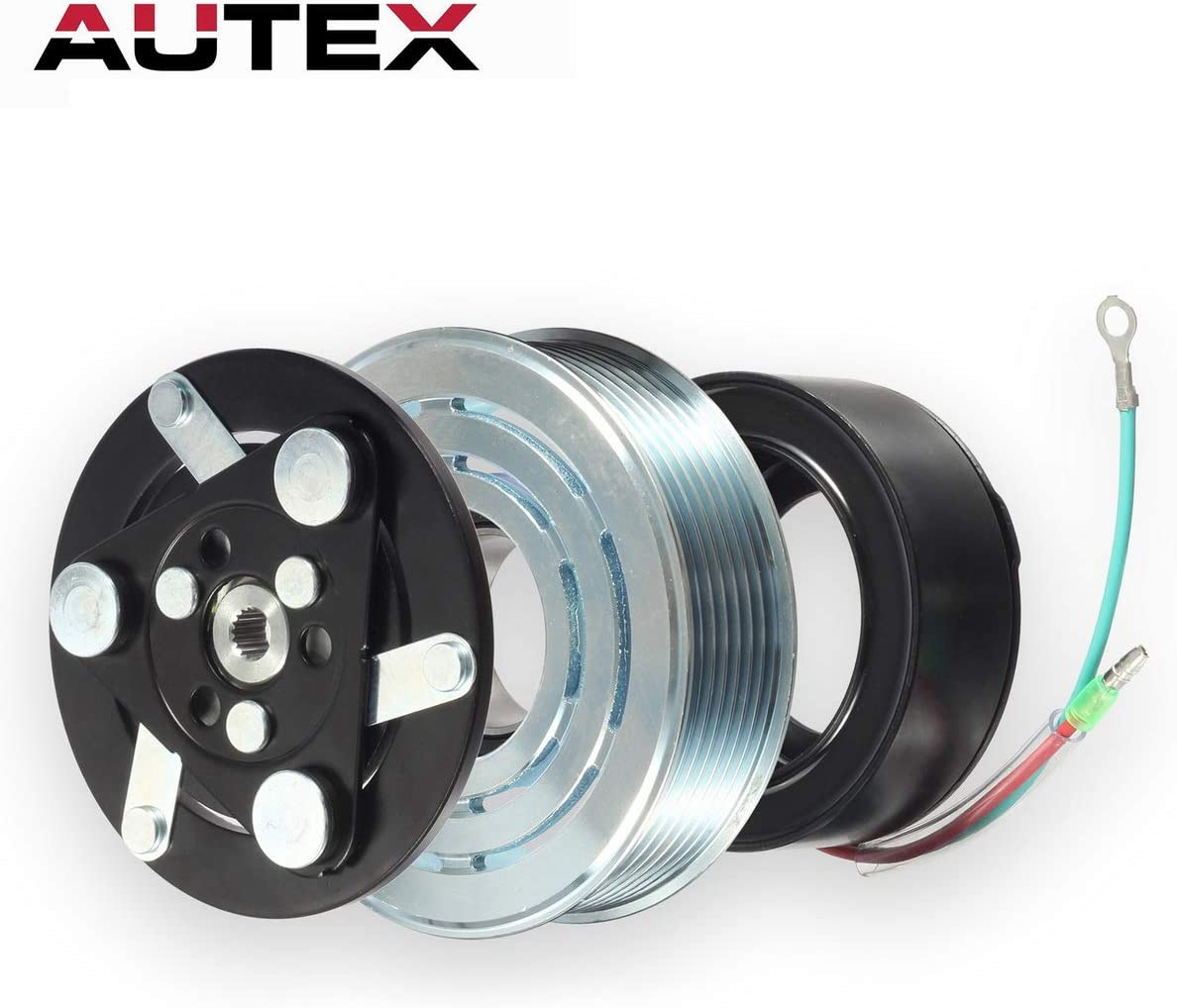 AUTEX AC A//C Compressor Clutch Coil Assembly Kit 38800RZYA010M2 80221SNAA01 8851502200 Replacement for HONDA CR-V 2007 2008 2009 2010 2011 2012 2013 2014