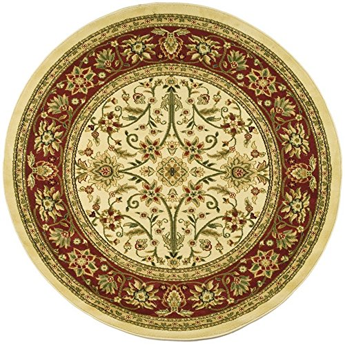 Safavieh Lyndhurst Collection LNH212K Traditional Oriental Ivory and Red Round Area Rug (8′ Diameter)