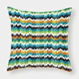 iPrint Polyester Throw Pillow Cushion Cover,Geometric,Abstract Trippy Funky Digital Complex Forms Creative Mosaic Technology Motif Decorative,Multicolor,Decorative Square Accent Pillow Case