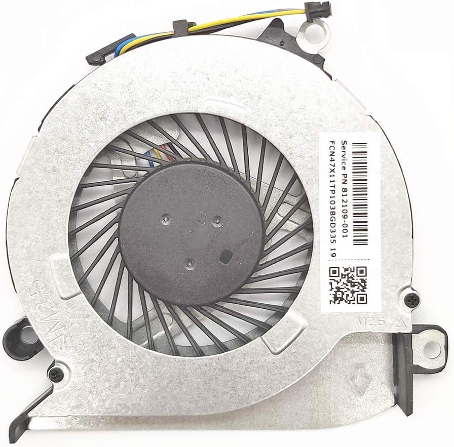 Lee_store CPU Cooling Fan for HP Pavilion 17-G100 17-G101DX 17-G119DX 17-G121WM 17-G037CY 17-G179NB 17-G053US 15-AB 15-AB273CA 15T-AB200 15-ABXXX Series 812109-001 806747-001 0FGBW0000H FCN47X11TP103