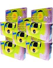 5x wegwerpcamera/bruiloftscamera/partycamera (27 foto's, flitser, 5-pack)