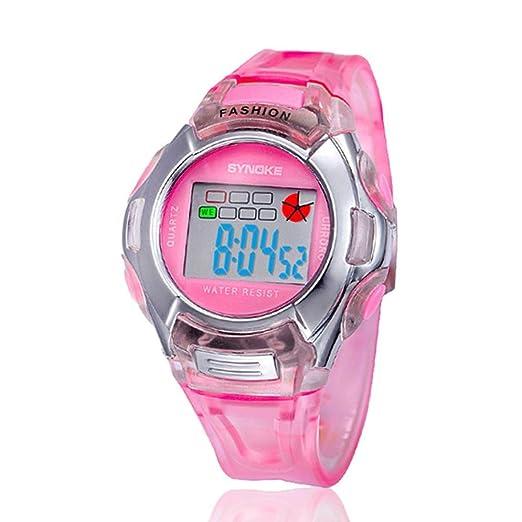 Cebbay Liquidación Reloj led para niños Niños Deportes LED Digital Relojes Reloj de Pulsera Fecha de Alarma Muñeca de Caucho Púrpura Verde Negro Rosa ...