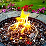 Skyflame High Luster 10-Pound Fire Glass for Fire