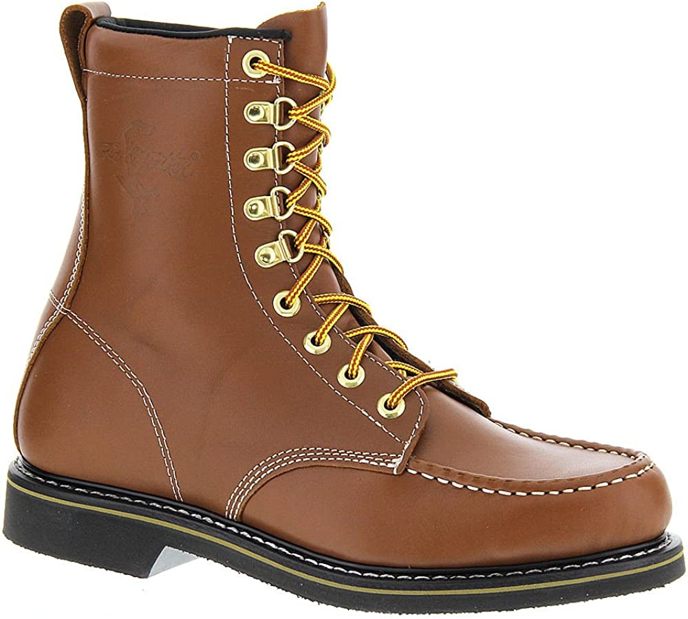 Work America Mens Wellington Leather Closed Toe Mid-Calf Fashion Boots