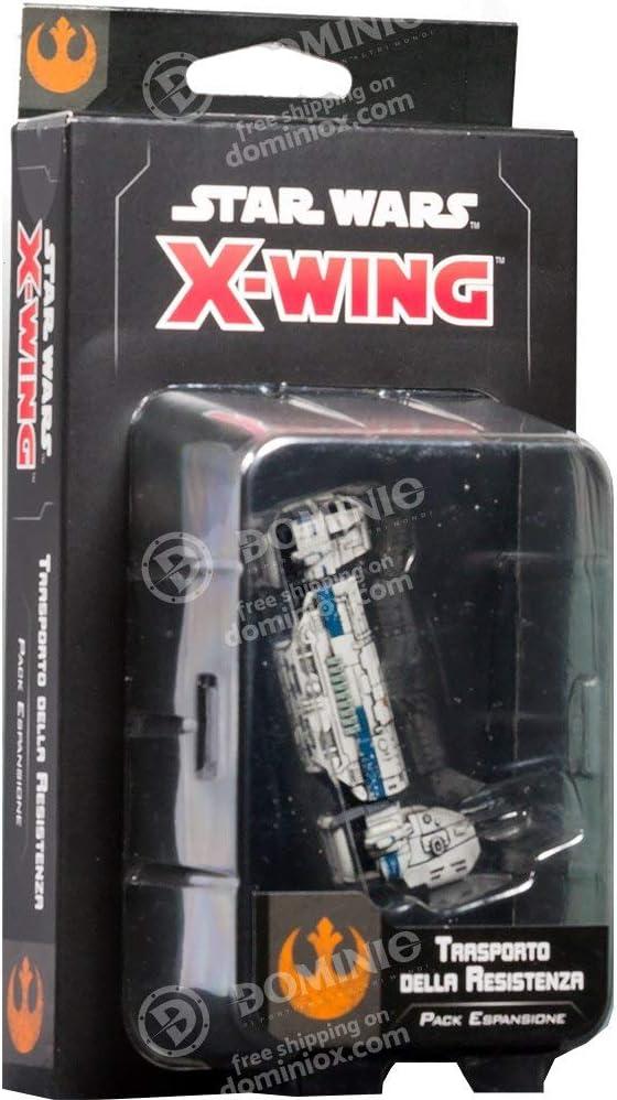Asmodee Italia- Star Wars X-Wing Transporte de la Resistencia expansión Juego de Mesa con espléndidas miniaturas, Color, 9968: Amazon.es: Juguetes y juegos