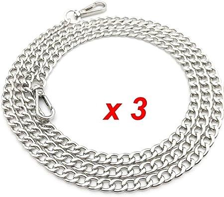 Tracolla a catena metallica dotata di fibbie, accessorio di ricambio per borse a mano e pochette per Borsa Donna Fai Da Te Catene di Collegamento,
