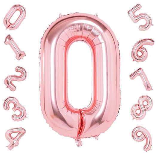 42 Pulgadas Grandes Globos de Oro Rosa Números 0, Jumbo Foil ...