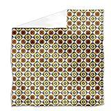 Portuguese Tiles Flat Sheet: King Luxury Microfiber, Soft, Breathable