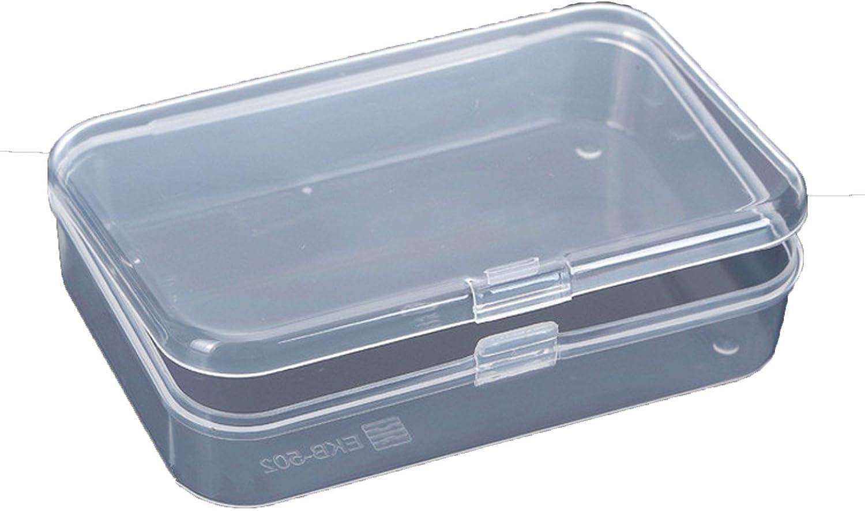 10x Small Transparent Plastic Storage Box Clear Square Multipurpose Display Case
