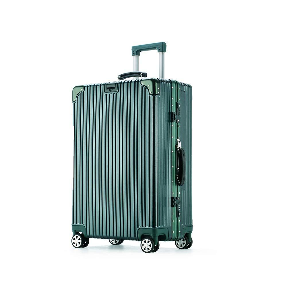 QL-スーツケース 荷物女性ユニバーサルホイールスーツケース男性学生韓国語バージョンのトロリーケースパスワードボックス潮、ダークグリーン、4サイズから選択 旅行用品 (Size : 64cmX41.5cmX25cm) B07T2MMQMB  64cmX41.5cmX25cm