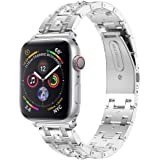 (40MM Silver) - Accessory for Apple Watch 4 Halloween Kacowpper New Fashion Rhinestone Replacement Accessory Watch Band Strap for Apple Watch Series 4 40MM/44MM