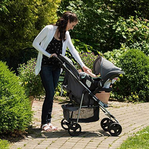 61dS7PLcnPL - Evenflo Vive Travel System With Embrace Infant Car Seat, Spearmint Spree