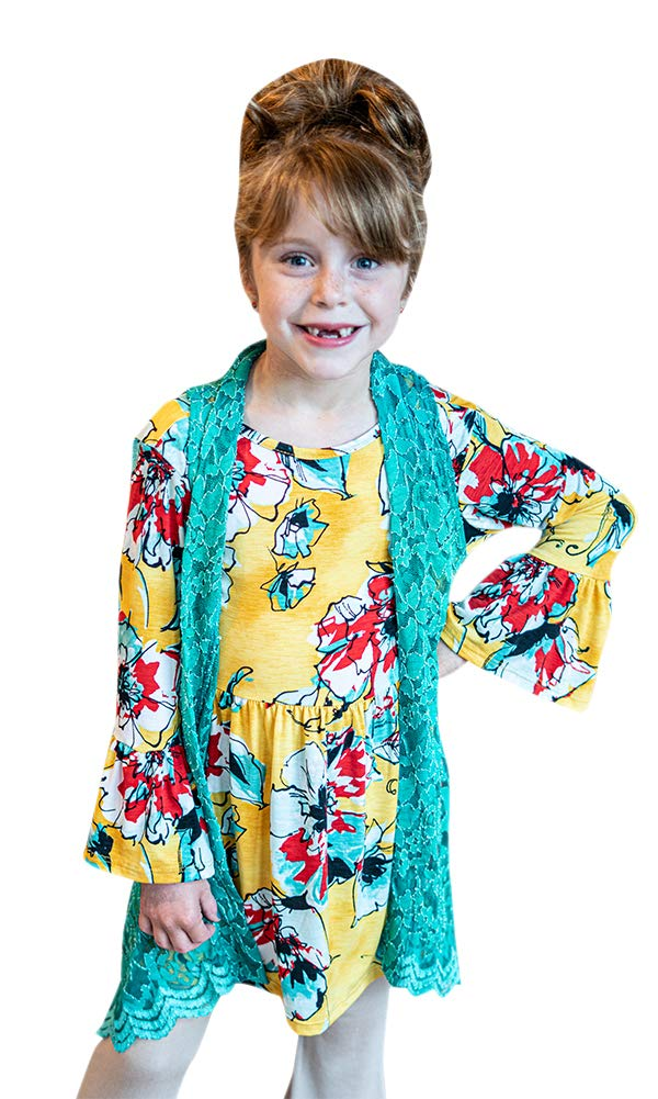 Kids Sleeveless lace Vest (X-Large, Jade) by L&B