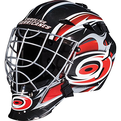 Franklin Sports GFM 1500 NHL Carolina Hurricanes Goalie Face (Hurricanes Team Helmet)