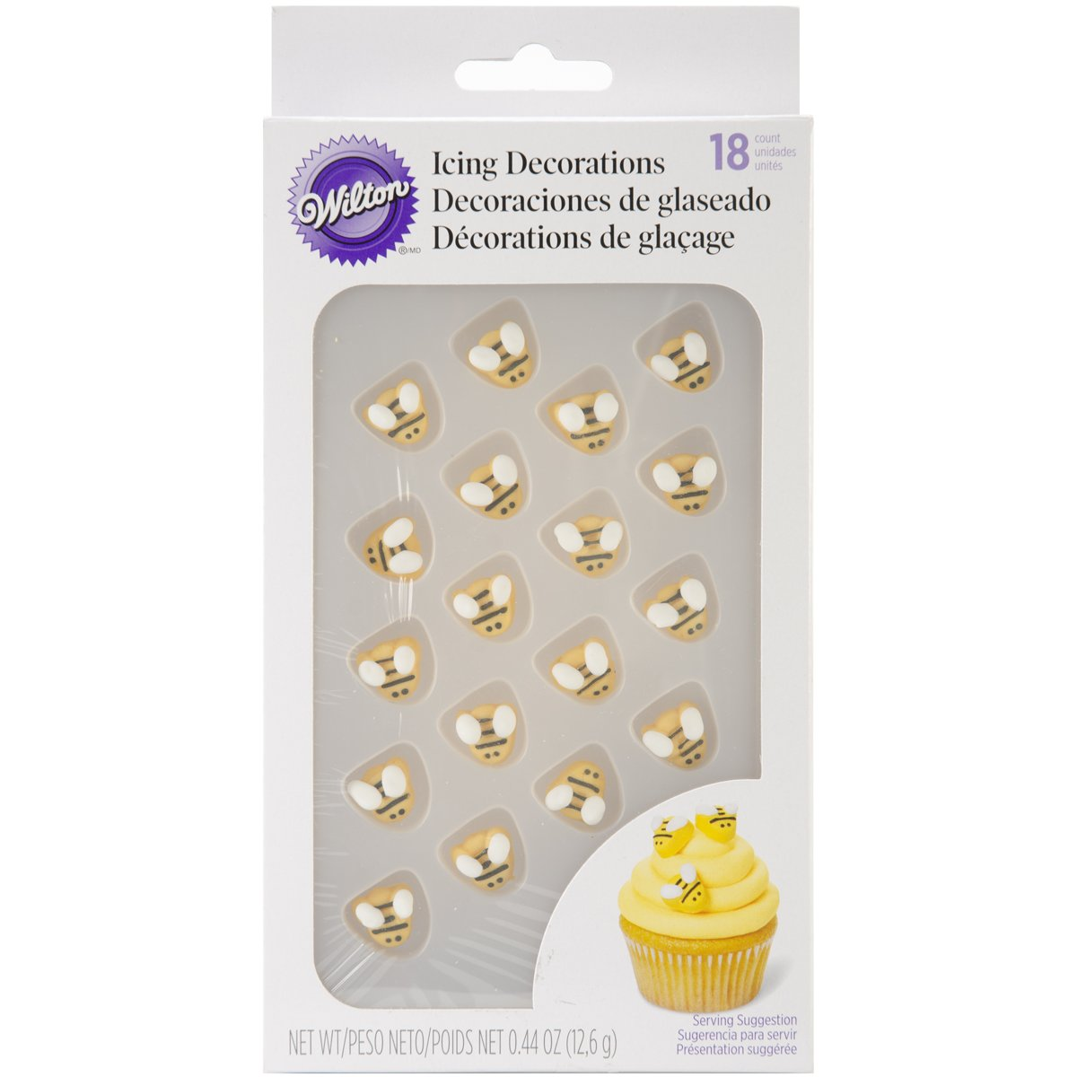 Wilton W7102916 Icing Decorations, Bumblebee, 18-Pack
