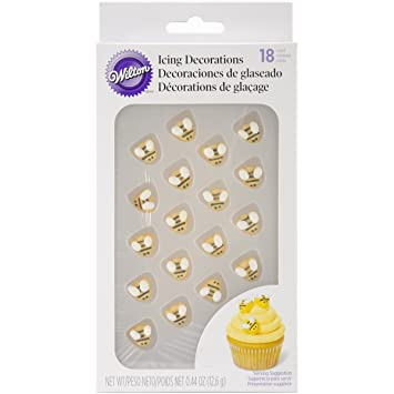 Wilton W7102916 Icing Decorations Bumblebee 18 Pack