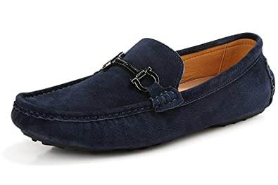 Men's Leather Slip-on Loafer Durable Breathable Comfortable Plus Velvet Shoes DDX001