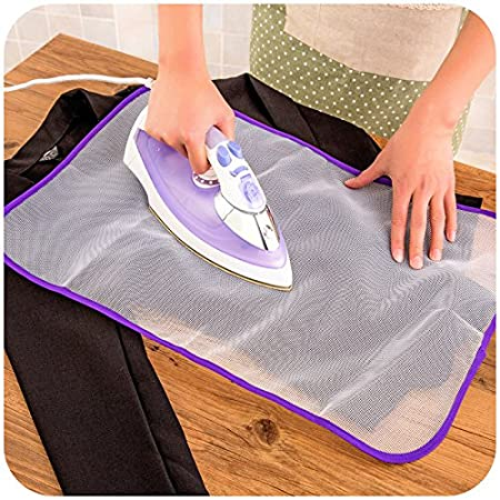 Ironing Pads Protective Heat Resistant Mesh Cloth Ironing Clothes Scorch Insulation Protective Guard Mat Random Color (2 Pcs) (2 Pcs) EQLEF®