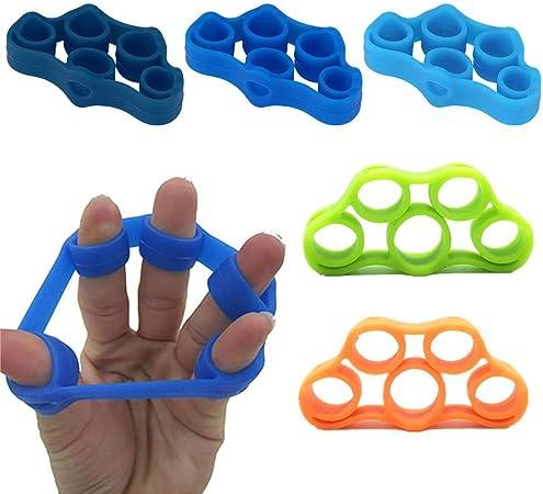 Haotianyuan 5 dedos de silicona agarre fuerza entrenamiento ...