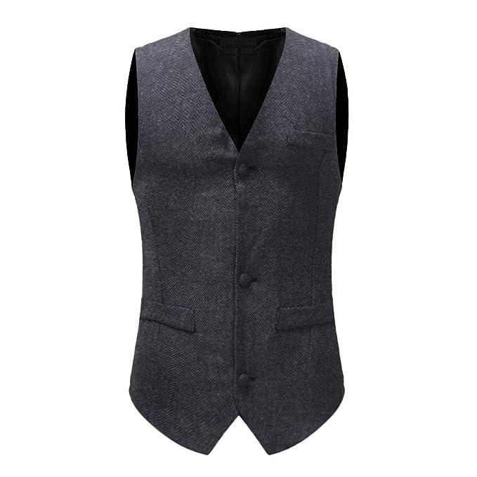 5274119e8eaa PASATO New Men's Autumn Winter Formal Bussiness Tuxedo Suit Waistcoat Vest  Jacket Top Coat Hot Sale
