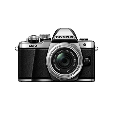 Olympus OM-D E-M10 Mark II Mirrorless Camera with 14-42mm EZ Lens (Silver) US ONLY