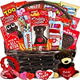 Valentine's Day Gift Basket (30ct) - Snacks, Chocolates, Candy - Wrapped Assortment Variety Bundle Present for Boy, Girl, Friend, Student, College, Child, Husband, Wife, Boyfriend, Girlfriend, Love
