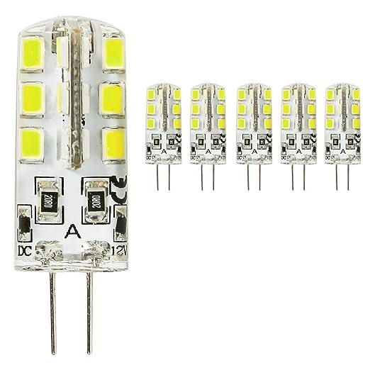 mengjay® 5 x LED G4 2835 SMD 3 W DC 12 V Blanco Frío G4