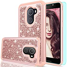 """T-Mobile REVVL Case (Not Fit REVVL Plus),Alcatel Walters/A30 Plus Case with HD Screen Protector,LeYi Girls Women Heavy Duty Protective Phone Case for Alcatel A30 Fierce 2017 (5.5"""") FZ Rose Gold"""
