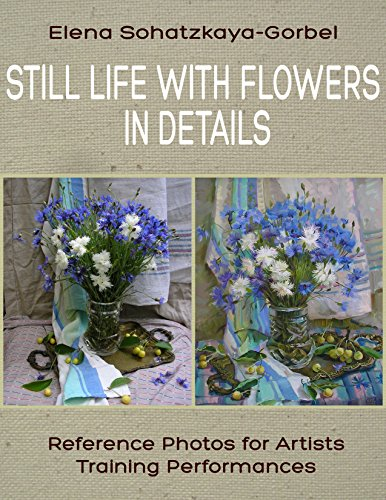 Still Life with Flowers in details: Reference Photos for Artists. Training Performances (Draw a still-life Book 2) (Life Peony Still)