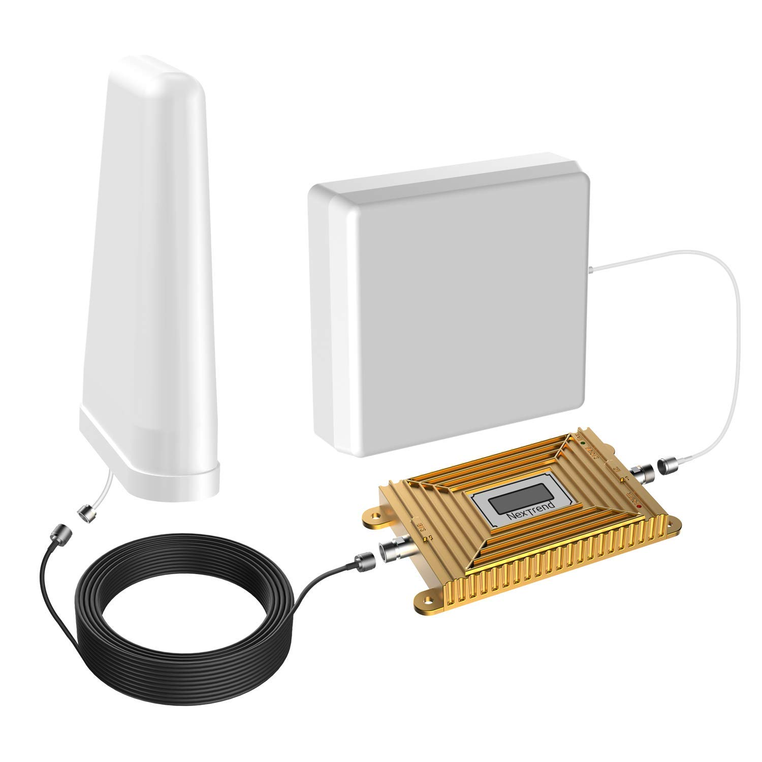 4G Cell Phone Signal Booster 700MHz Band 12/13/17 Cellular Signal Repeater Amplifier with Indoor Panel Antenna/Outdoor LPDA Antenna for Office or Home - Verizon, AT&T, T-Mobile, Sprint